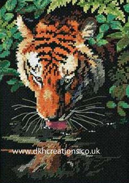 Tiger Reflection Cross Stitch Kit